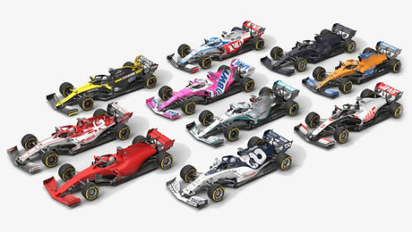 Formula 1 Season 2020 Race Car 3D model