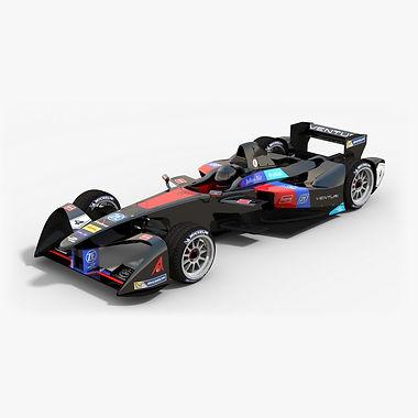 Venturi Racing Formula E Season 2016 2017 3D model