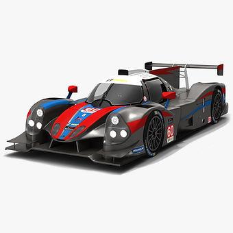 Wulver Racing #60 IMSA Prototype Challenge Season 2019 Low-poly 3D model