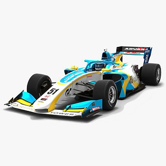 Motopark Academy #51 Super Formula Season 2019 Low-poly 3D model