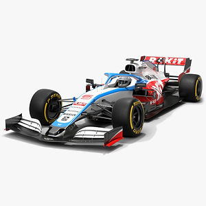 Williams F1 Racing FW43 Formula 1 Season 2020 Low-poly PBR  3D model