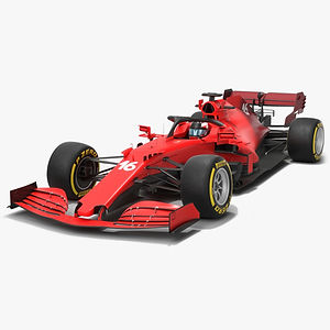 Formula 1 Red Car 2021 F1 race car Low-poly PBR  3D model