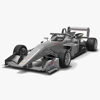 Dallara EF 320 Euroformula Open Season 2020 Low-poly PBR 3D model