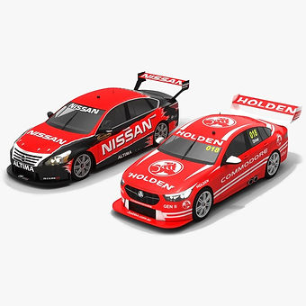 V8 Supercars Season 2018 2019 Low-poly PBR 3D model