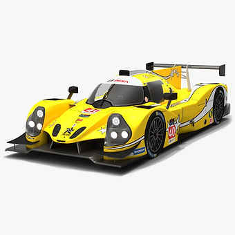 Polestar Motor Racing #40 IMSA Prototype Challenge Season 2019 Low-poly 3D model