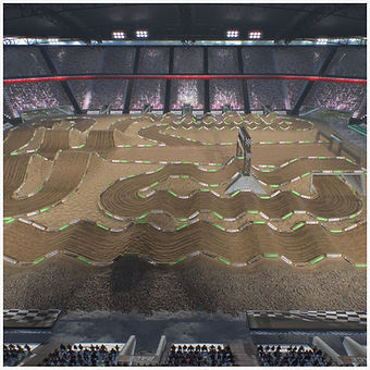 Dirt Cross Stadium Race Track Low-poly PBR 3D model