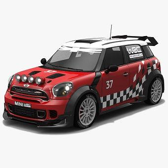 MINI WRC Low-poly PBR 3D model