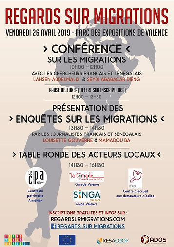 Regards sur migrations 26 AVRIL Valence.