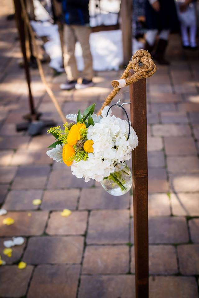 Rustic Bucket Aisle Stanchions