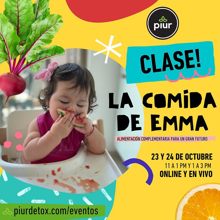 La comida de Emma - ALIMENTACIÓN COMPLEMENTARIA PARA UN GRAN FUTURO