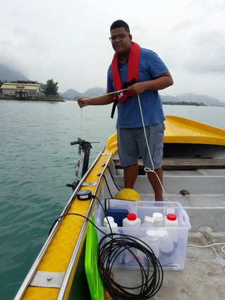 Seychelles Aquaculture Ongoing Water Test.