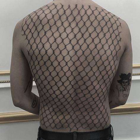 wire back-job tattoo by Daniel Snoeks at Third Eye Tattoo