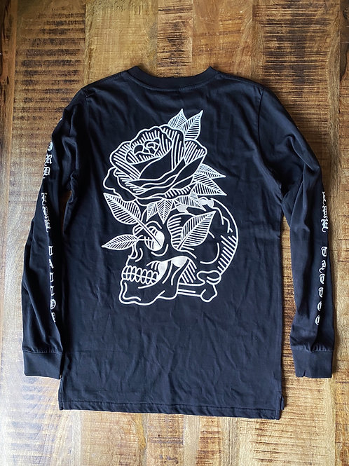 Skull and Rose Longlseeve