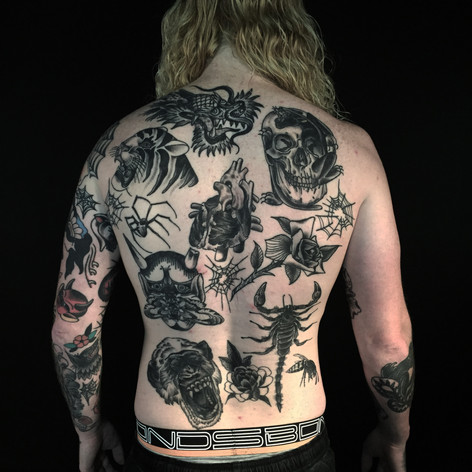 traditional back-job tattooo by Bugsy at Third Eye Tattoos Melbourne