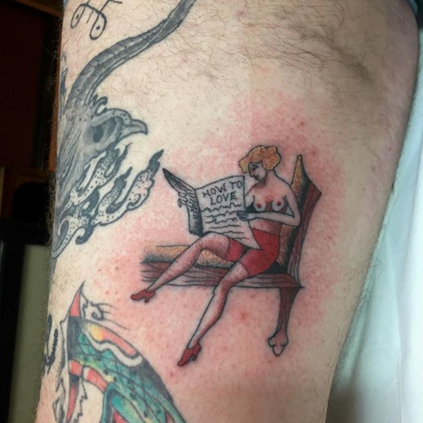 traditional walk in tattoo by Nick Rutherford at Third Eye