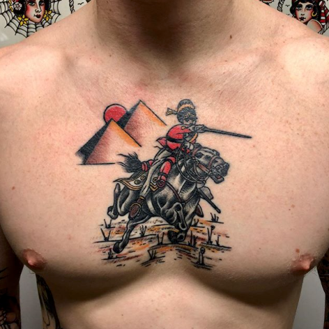 traditional tattoo by Oliver Chistenson at Third Eye