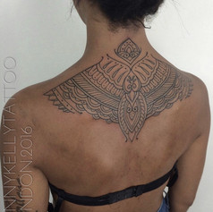 beautiful geometric tattoo by Danny Kelly at Third Eye Tattoo Melbourne