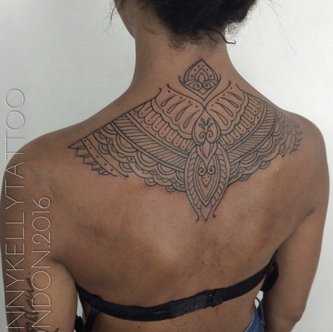 beautiful geometric tattoo by Danny Kelly at Third Eye Tattoo Melbourne