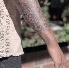 sacred mandala tattoo by Danny Kelly at Third Eye Tattoo Melbourne