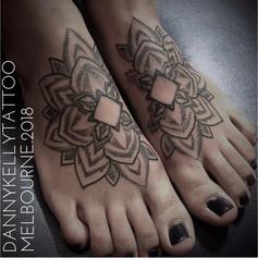 dotwork blackwork sacred geometry tattoo by Danny Kelly at Third Eye Tattoo Melbourne