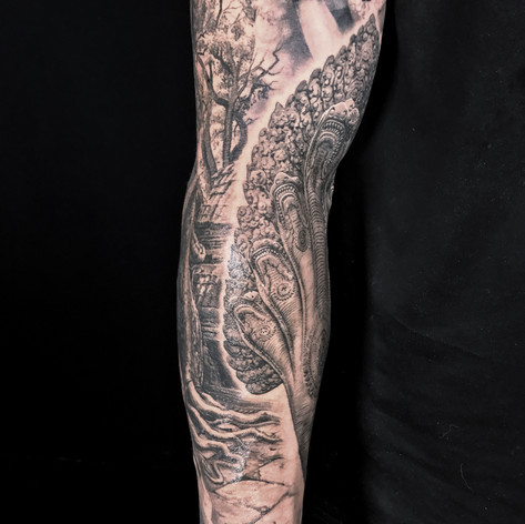 hydra sleeve tattoo by Marshall at Third Eye Tattoo Melbourne