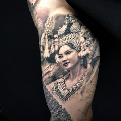 beautiful portraite tattoo by Marshall at Third Eye Tattoo Melbourne