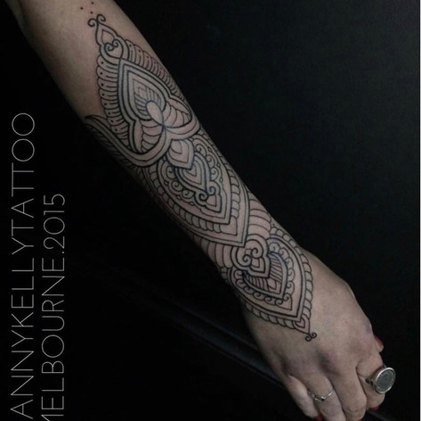 mandala half sleeve tattoo by Danny Kelly at Third Eye Tattoo Melbourne