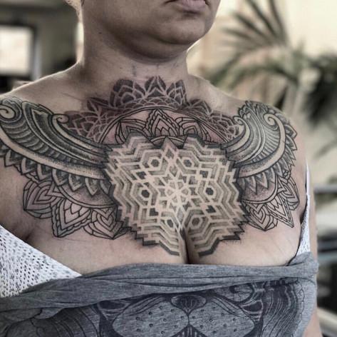 dotwork mandala tattoo by Danny Kelly at Third Eye Tattoo Melbourne
