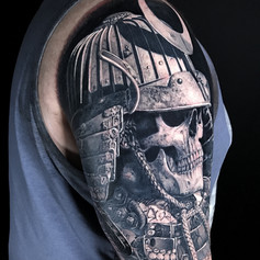 another samurai tattoo by Marshall at Third Eye Tattoo Melbourne