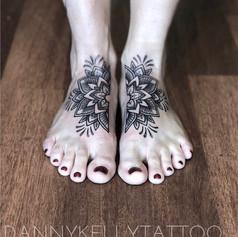 blackwork dotwork sacred geometry tattoo by Danny Kelly at Third Eye Tattoo Melbourne