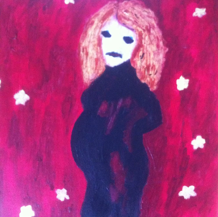 painting of a pregnant woman impressionism