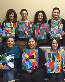 wine and paint party, paint and sip in NJ, painting party in NJ, painting birthday party in Central NJ