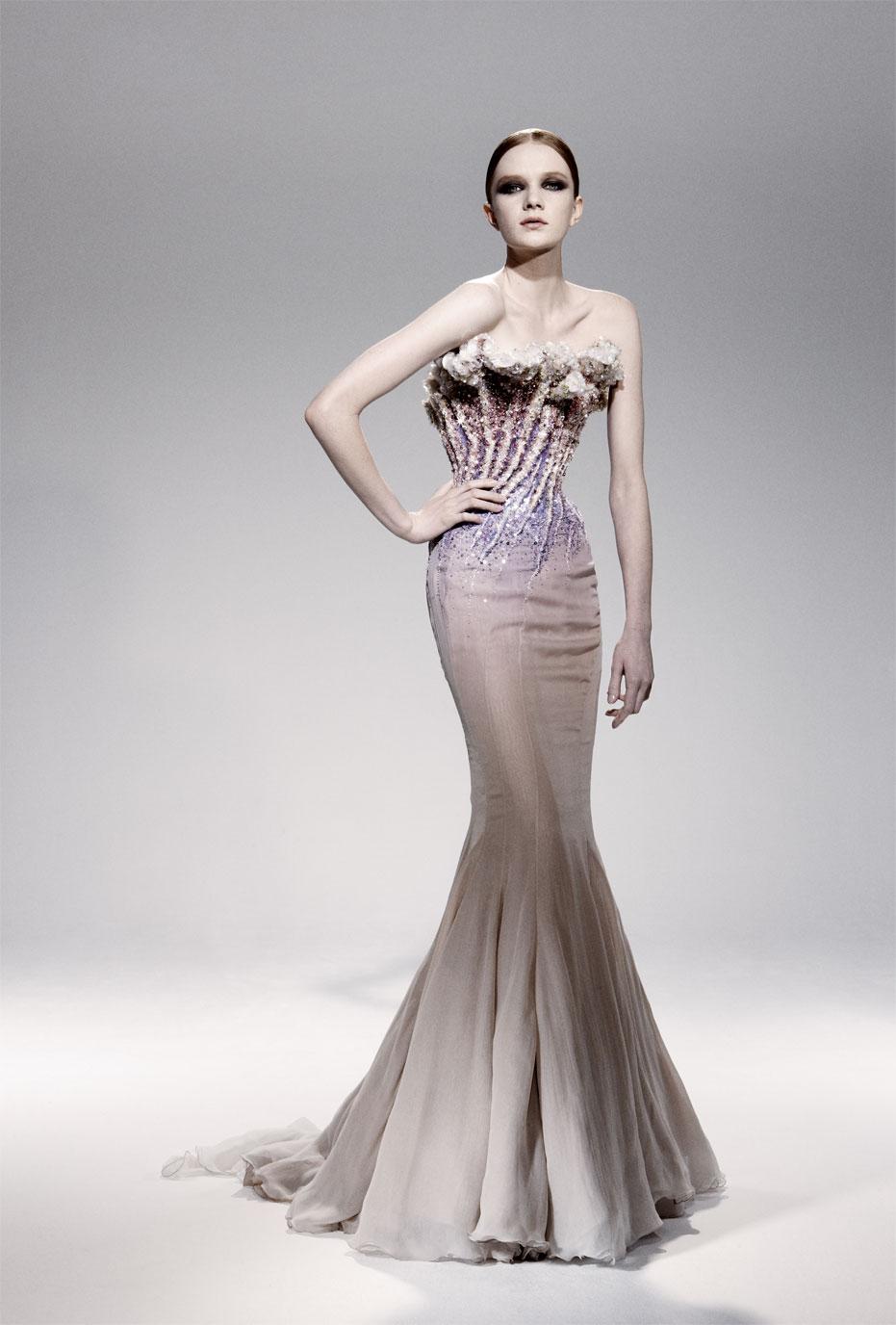 Iridescent coral dress