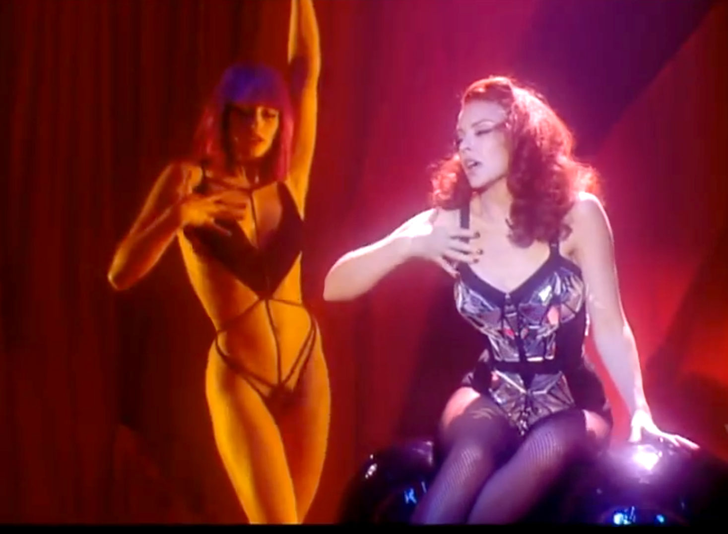 Kylie Minogue and Crazy Horse girls