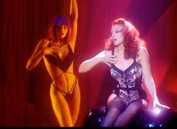 Kylie Minogue and Crazy Horse girls
