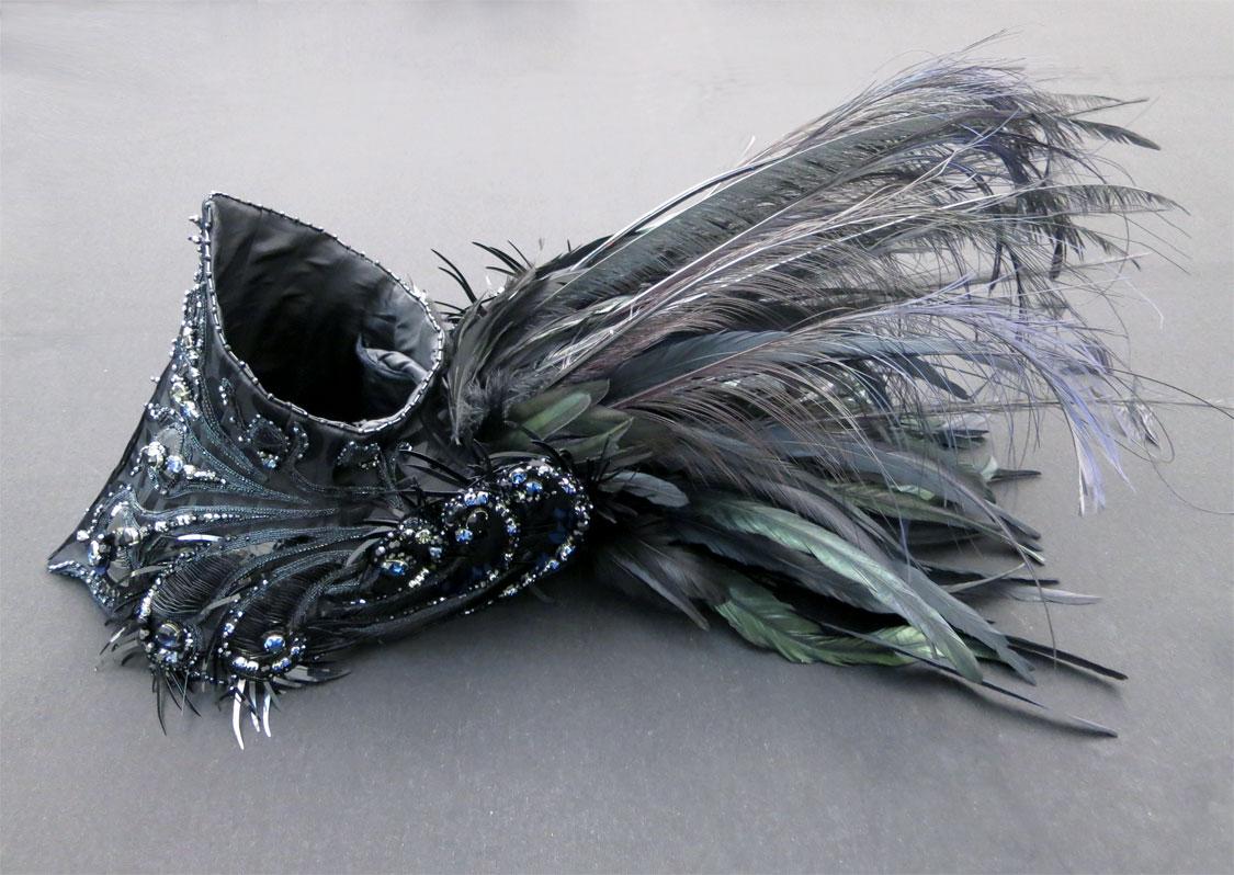 Peacock corset