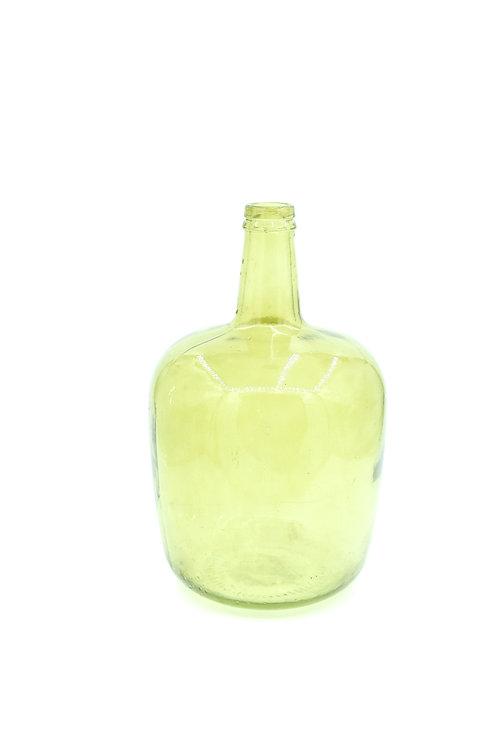 Vihreä iso lasipullo