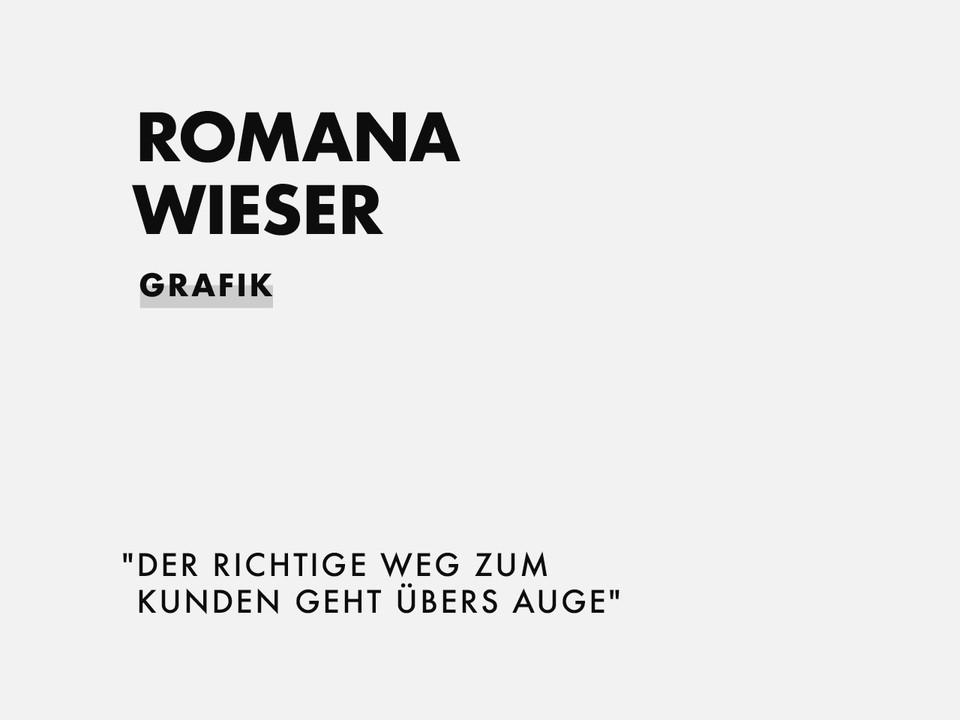ROMANA WIESER | GRAFIK