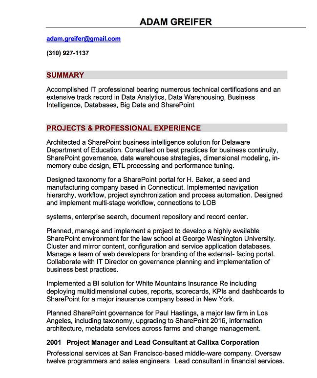 Adamzapple Llc Microsoft Certified Training Resume