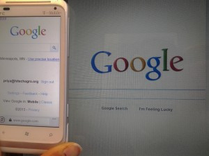 Google mobile view