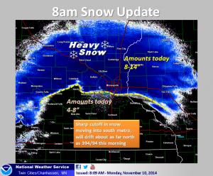 Heavy snow 2014-11-10