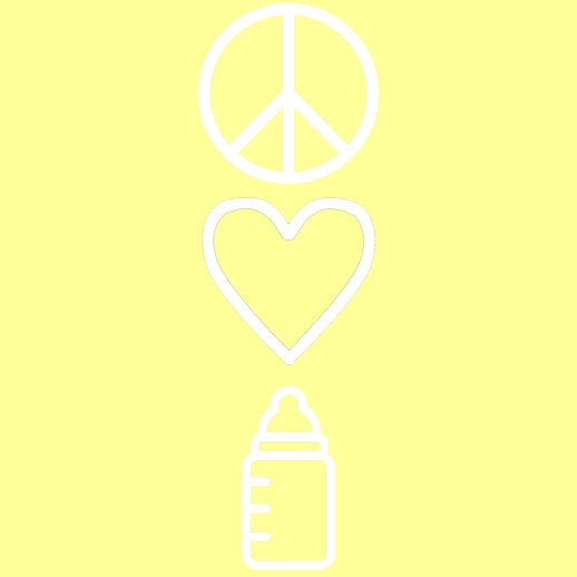 Peace, Love, and Baby Bottle