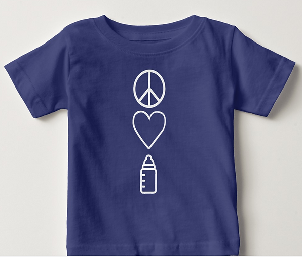 Peace, Love, and Baby Bottle Toddler Tee