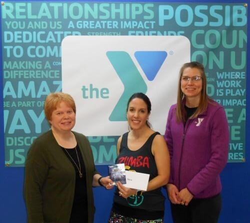 Photo:  Susan Wollin, Prize Winner Maria Garcia, and Dawn Liddicott.