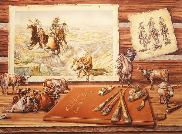 Rawhide Chases - Russell Traces.JPG