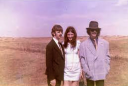 With Ringo & George during filming of Magical Mystery Tour