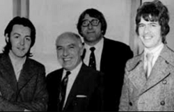 Tony with [L to R] Paul, Unknown?, Mal Evans and Tony