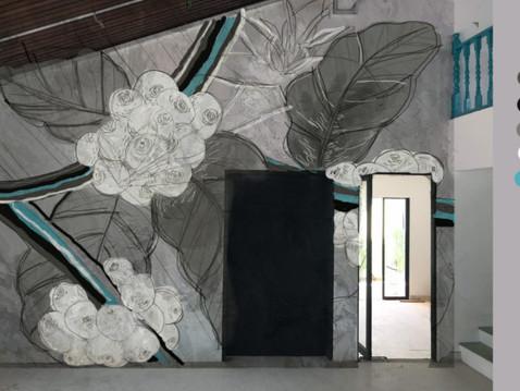 PROCESS / Mural - Capulus Est Vita