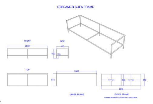 Amazon-Twitch Event Streamer Sofa Construction