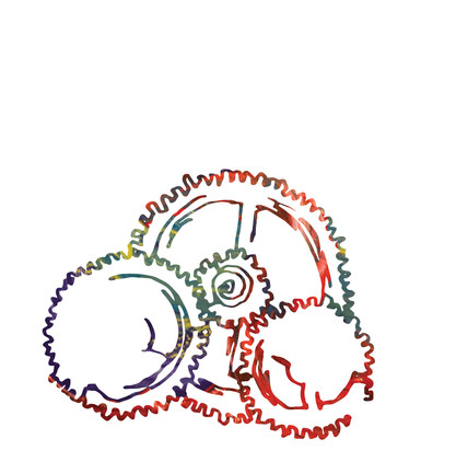 Fluid Learning Illustration - Cogs